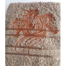 Three Horses Embroidered Face Cloth