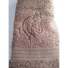 Horse Head Embroidered Guest Towel
