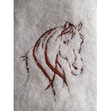 Horse Head Embroidered Face Cloth