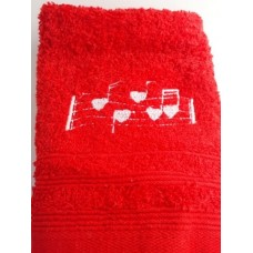 Music Notes Embroidered Face Cloth
