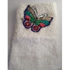 Butterfly Embroidered Face Cloth