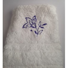 Three Petals Embroidered Face Cloth