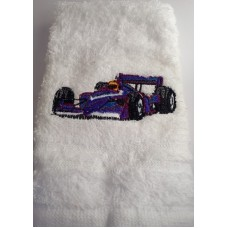 Racing Car Embroidered Face Cloth
