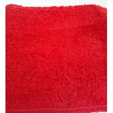 Three Petals Embroidered Face Cloth - Red
