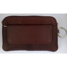 Coin Pouch with Keyring - Real Leather 2848