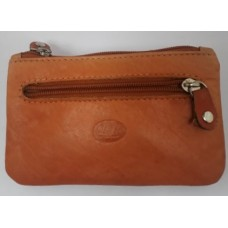 Coin Pouch with Keyring - Real Leather 1048