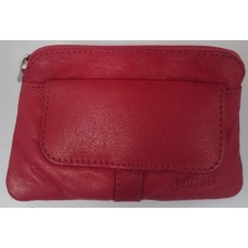 Coin Pouch with Keyring - Real Leather 2847