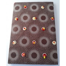 Beaded Note Book - A6 Brown
