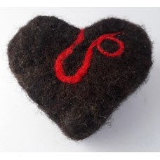 Felted Soap Heart - Red Swirl