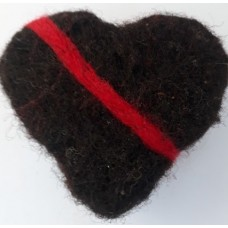 Felted Soap Heart - Red stripe